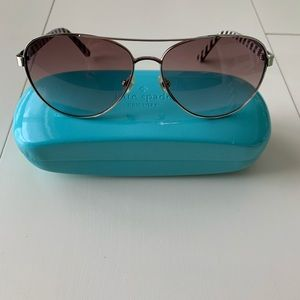 Kate Spade Blossom Sunglasses w/ Case - Silver